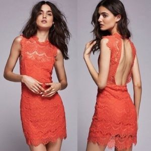 FREE PEOPLE daydream dress in coral size small